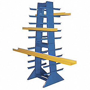 "83-3/4"" 36 Arm 2600 lb. Capacity Steel Horizontal Bar Rack, Powder Coated"