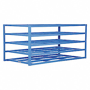 "Horizontal Sheet Rack,Starter,48""H,Blue"