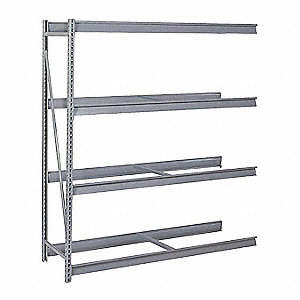 "Add-On Bulk Storage Rack with None Decking and 4 Shelves, 72""W x 48""D x 96""H"