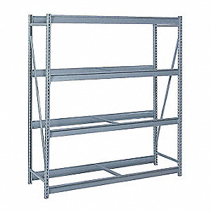 "Starter Bulk Storage Rack with None Decking and 4 Shelves, 60""W x 48""D x 96""H"