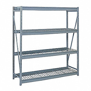 "Starter Bulk Storage Rack with Steel Wire Decking and 4 Shelves, 96""W x 24""D x 96""H"