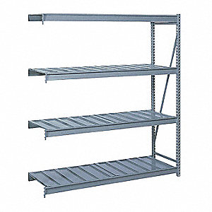 "Add-On Bulk Storage Rack with Steel Wire Decking and 4 Shelves, 72""W x 24""D x 120""H"