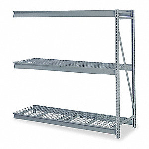 "60"" x 24"" x 120"" 14 ga. Steel Bulk Storage Rack Add-On Unit, Gray&#x3b; Number of Shelves: 4"