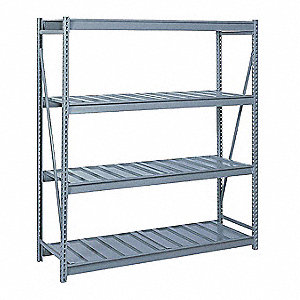 "Starter Bulk Storage Rack with Ribbed Steel Decking and 4 Shelves, 96""W x 24""D x 96""H"