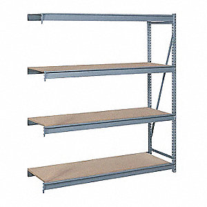 "Add-On Bulk Storage Rack with Particle Board Decking and 4 Shelves, 96""W x 36""D x 96""H"