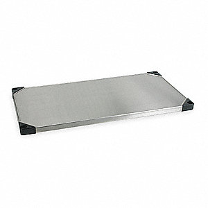 "48"" x 24"" Stainless Steel Solid Shelf with 800 lb. Capacity, Silver"
