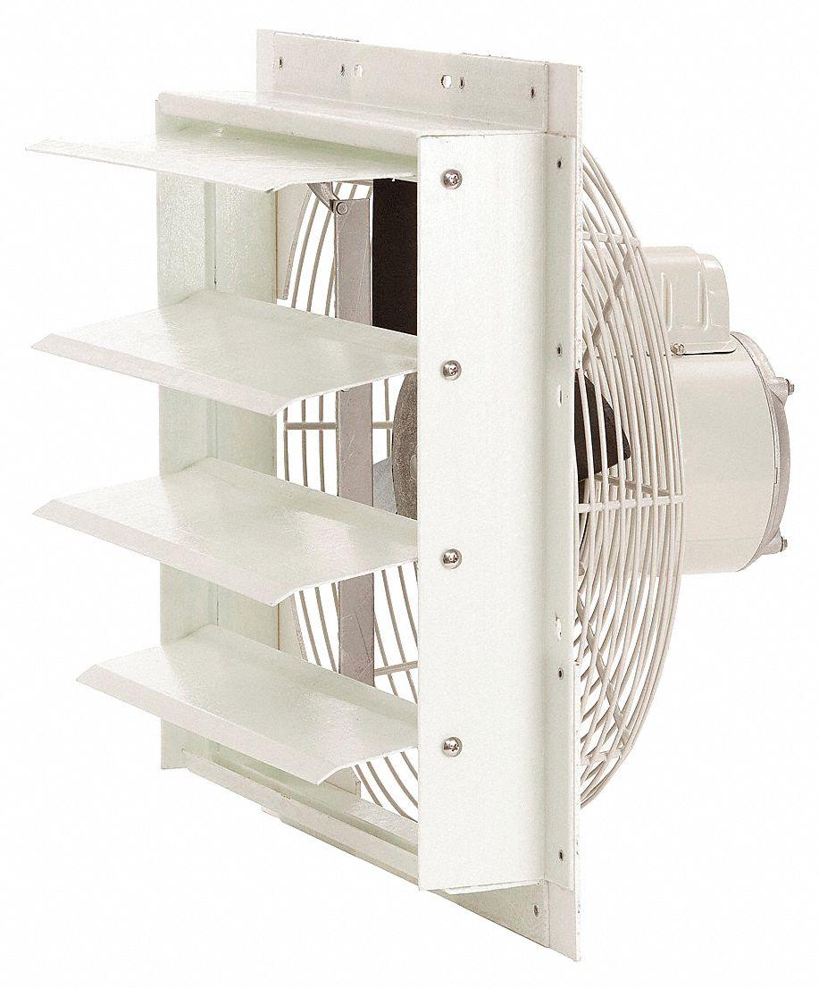 Direct Drive Corrosion Resistant Shutter Mount Fans