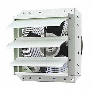 "15"" x 15"" 115V Corrosion Resistant Shutter Mount 1-Phase Exhaust Fan"