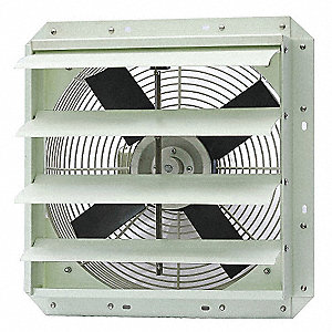 "18-29/32"" x 18-29/32"" 115V Corrosion Resistant Shutter Mount 1-Phase Exhaust Fan"