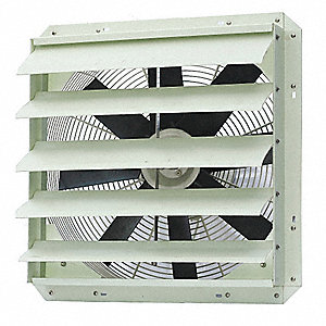 "22-27/32"" x 22-27/32"" 115VACV Corrosion Resistant Shutter Mount 1-Phase Exhaust Fan"