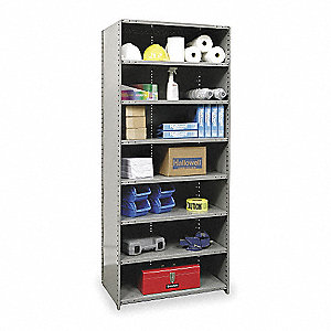 "48"" x 18"" x 87"" Starter Steel Shelving Unit, Gray"