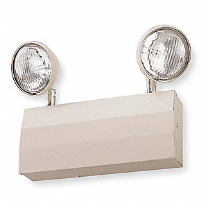 "13-1/8"" x 2-1/2"" x 11-5/8"" Halogen Emergency Light, Wall Mounting"