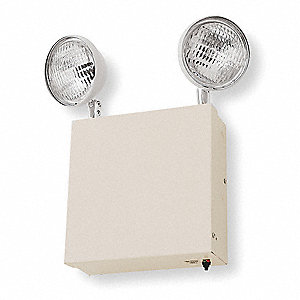 "10"" x 3"" x 14-1/2"" Incandescent Emergency Light, Wall Mounting"