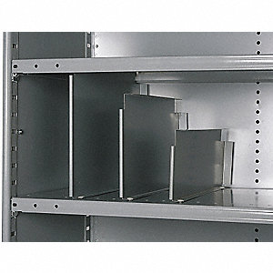 "24"" x 24"" x 6"" 20 Gauge Cold Rolled Steel Vertical Shelf Divider, Gray&#x3b; PK12"