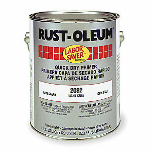 1 gal. Interior/Exterior Rust Inhibitive Primer Covers 325 to 550 sq. ft./gal., Light Gray