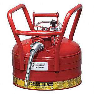 Type II DOT Safety Can,16-1/2 In. H,Red