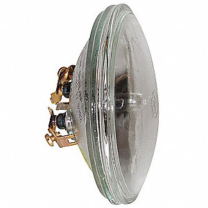 38 Watts Halogen Sealed Beam Lamp, PAR36, Screw Terminals, 3000K Bulb Color Temp.