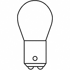 Trade Number 1612, 10.0 Watts Miniature Incandescent Bulb, S8, Double Contact Bayonet (BA15d)