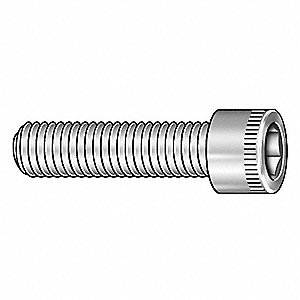 "#4-40 x 7/8"", Cylindrical, Socket Head Cap Screw, Alloy Steel, Steel, Black Oxide Finish, 100PK"