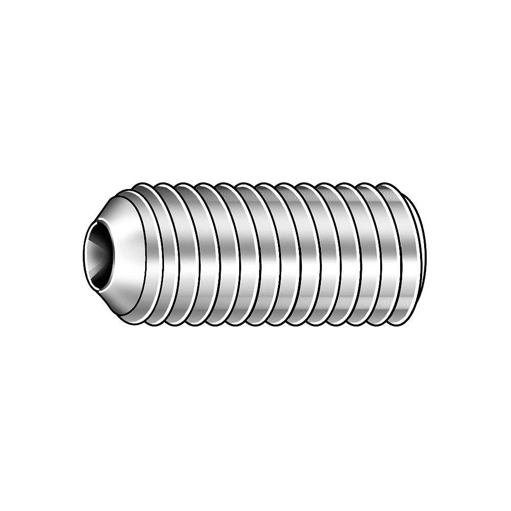 Thread Size #5-40 Set Screw Alloy Steel