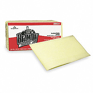 "Light Duty Dust Cloth, Brawny® Professional, Yellow, 24"" x 24"", 200 PK"