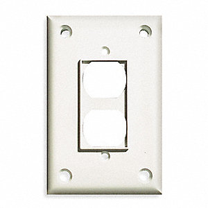 SECURITY WALL PLATE,1 GANG,WHITE,AB