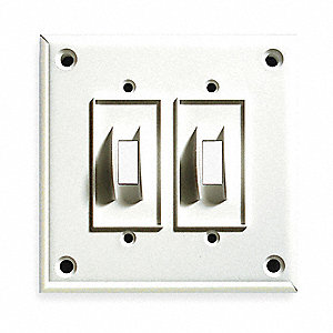 Security Toggle Switch Plate,2Gang,White