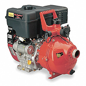 10 HP Aluminum 296cc High Pressure Fire Fighting Pump, Electric & Manual Start