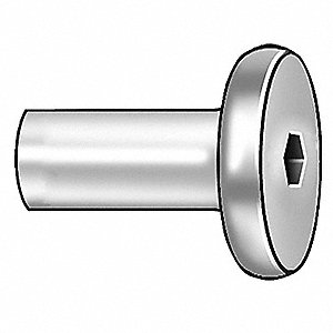 Connector Nut,1/4-20,Gr 2,ST,ZP,PK10