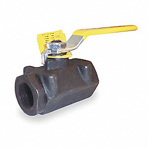 "Carbon Steel FNPT x FNPT Fire Safe Ball Valve, Lever, 1/2"" Pipe Size"