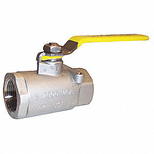 "316 Stainless Steel FNPT x FNPT Ball Valve, Locking Lever, 3/4"" Pipe Size"