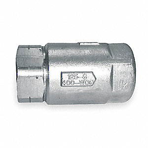 Ball Cone Spring Check Valve,1 In.,FNPT