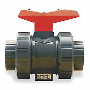 Poly Ball Valve,Union,Socket/FNPT,1""