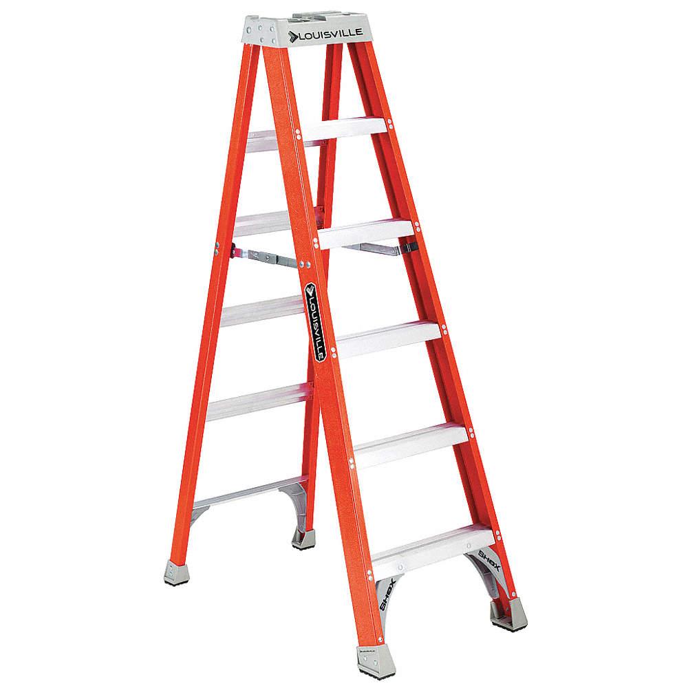 300 lb Fiberglass Step Ladder 2 ft Load Capacity Painting Cleaning Job Site