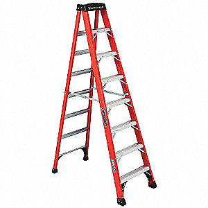 8 ft. 375 lb. Load Capacity Fiberglass Stepladder