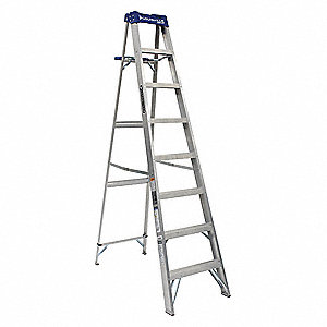 8 ft. 250 lb. Load Capacity Aluminum Stepladder