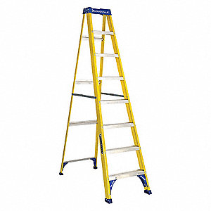 Stepladder,Fiberglass,8 ft. H,250 lb Cap