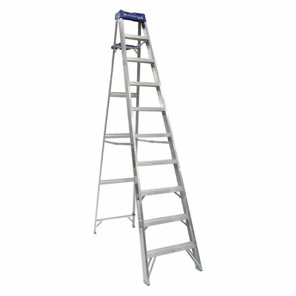 louisville 10 ft  250 lb  load capacity aluminum stepladder - 1cmt5