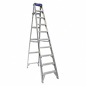 10 ft. 250 lb. Load Capacity Aluminum Stepladder