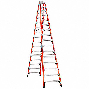16 ft. 375 lb. Load Capacity Fiberglass Twin Stepladder