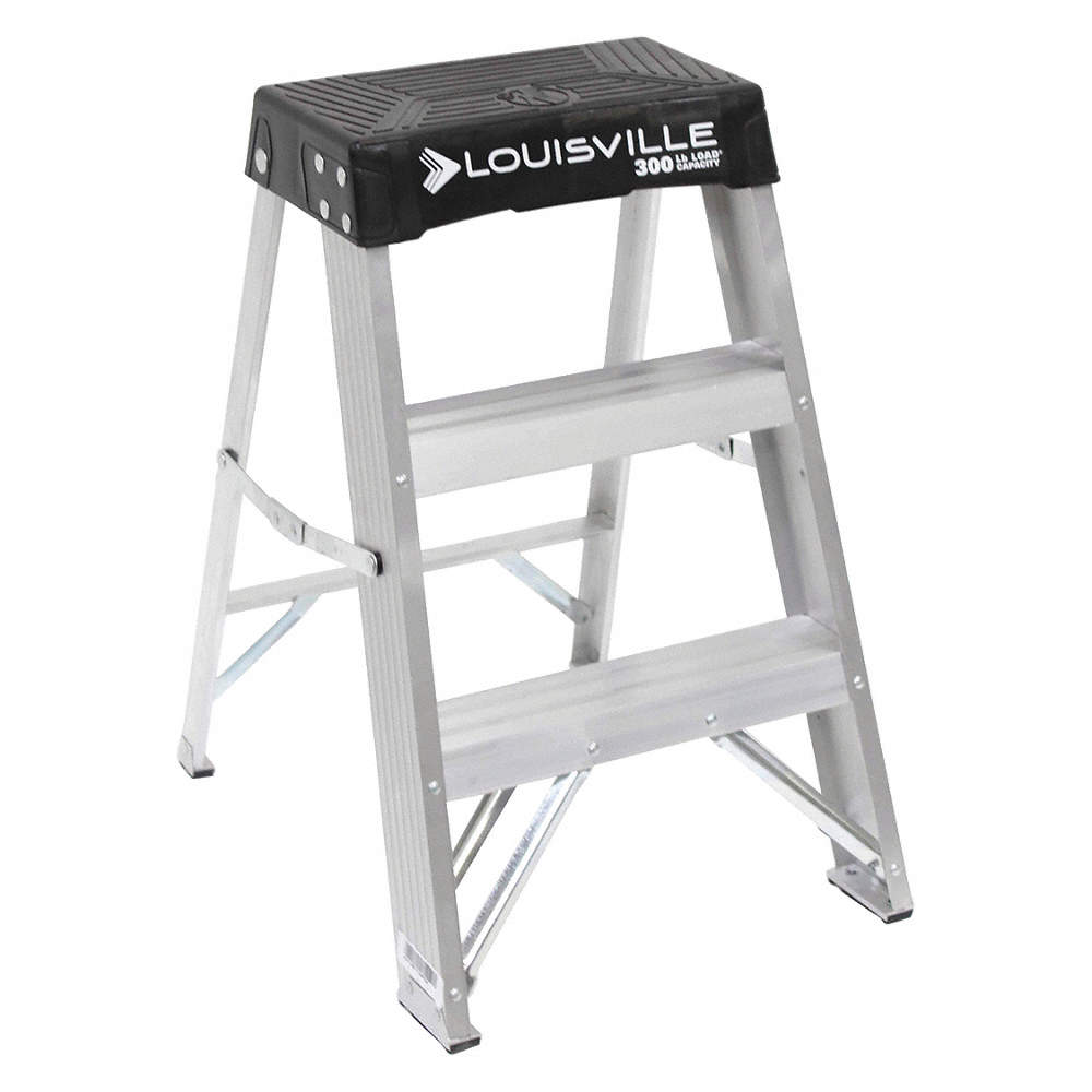 Admirable Aluminum Step Stand 24 Overall Height 300 Lb Load Capacity Number Of Steps 2 Creativecarmelina Interior Chair Design Creativecarmelinacom