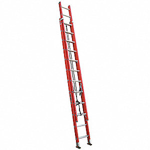 Extension Ladder, Fiberglass, IA ANSI Type, 12 ft. Ladder Height