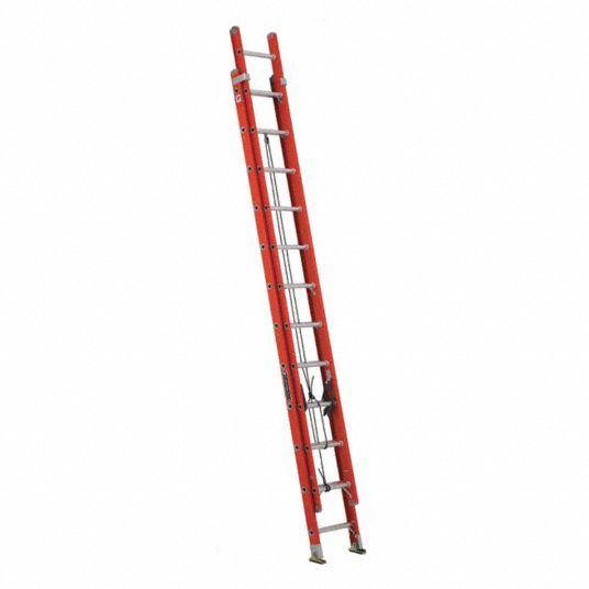 Louisville 24 Ft Fiberglass Extension Ladder 300 Lb Load Capacity 52 0 Lb Net Weight 1cmv8 Fe3224 Grainger