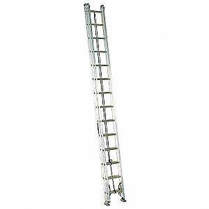 Extension Ladder, Aluminum, IA ANSI Type, 28 ft. Industry Ladder Size
