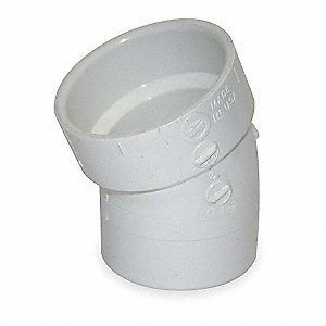 Street Elbow,22 1/2 Deg,3 In,PVC,Wh