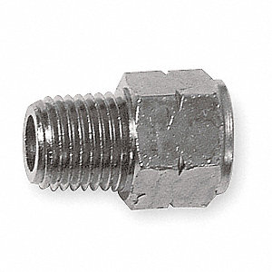 "Nickel Plated Brass Adapter, FNPT x MBSP, 1/8"" Pipe Size,  1 EA"