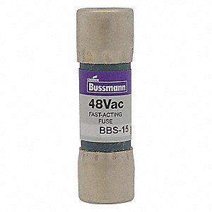 Fast Acting, Cylindrical, Fast Acting Midget Fuse, BBS Series, 600VAC, Nonindicating