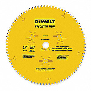 "12"" Carbide Finishing Circular Saw Blade, Number of Teeth: 80"
