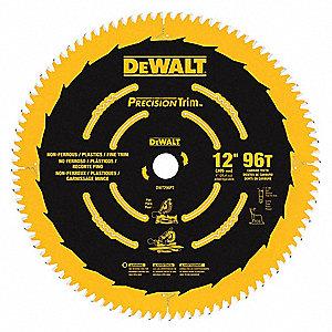 Dewalt circular saw blade12 in dia96 teeth 1crb8dw7296pt circular saw blade12 in dia96 teeth greentooth Choice Image