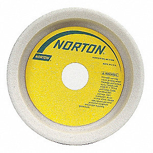 "5"" Straight Cup Grinding Wheel, 32A60-KVBE, 1-1/2"" Thickness, 1-1/4"" Arbor Size, 60 Grit"